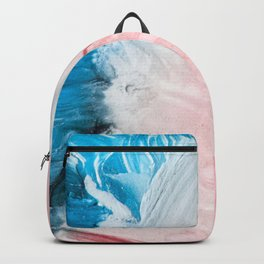 Blue white and pink Backpack