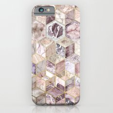 Blush Quartz Honeycomb iPhone 6s Slim Case