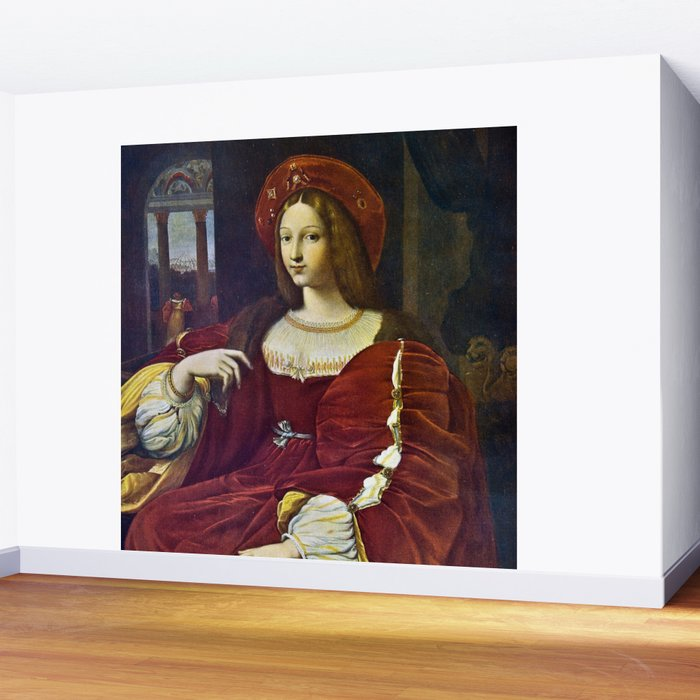 Joanna of Aragon by Raphael Wall Mural