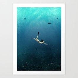 Underwater Universe Art Print