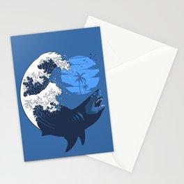Wave megalodon Stationery Cards