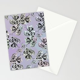 Elegant orchid pattern Stationery Cards