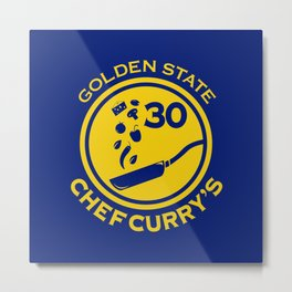 Chef Curry Metal Print