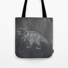Tyrannosaurus, Rex Dinosaur (A.K.A. T REX) Butcher Meat Diagram Tote Bag