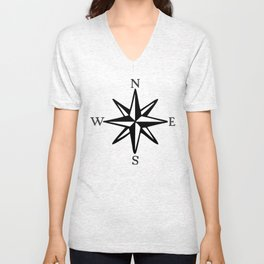 Compass Rose NOSW (Two-Color) Unisex V-Neck