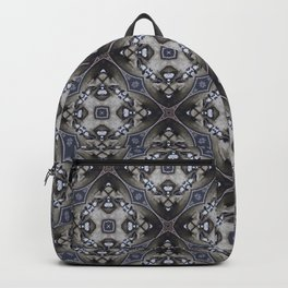 Vintage 1800 Period Hidden Faces Abstract Design Backpack