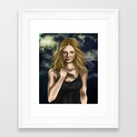 buffy Framed Art Prints featuring Buffy Summers by Jade Todd