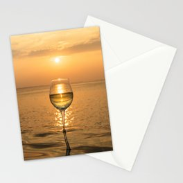 Wine Sunset in Paradise Stationery Cards