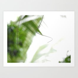 Peaceful green shades of graceful nature Art Print