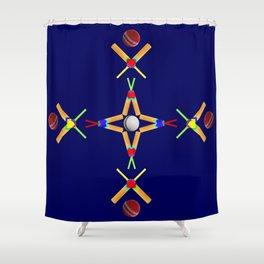 Sport Of Cricket Design version 3 Shower Curtain