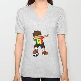 Senegal  Soccer Ball Dabbing Kid Senegalese Football 2018 Unisex V-Neck