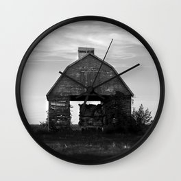 Country Corn Crib Wall Clock