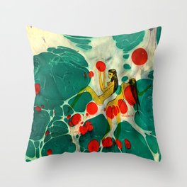 Marbling illustrated Throw Pillow