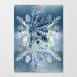 Winter Flakes Canvas Print