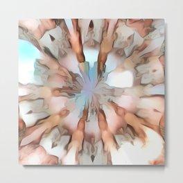 Colordrop Mandala 3 Metal Print