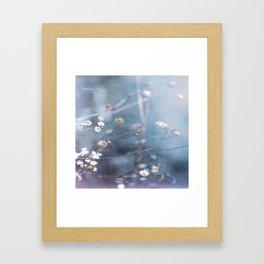 Dusty Fog Flowers Framed Art Print
