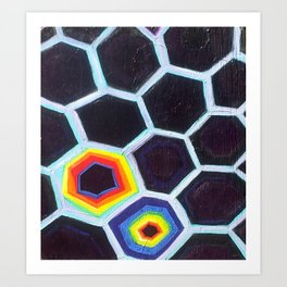 Honeycomb Hideout Art Print