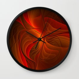 Warmth, Abstract Fractal Art Wall Clock