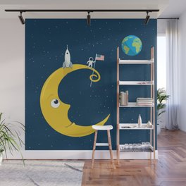 Man on the Moon Wall Mural