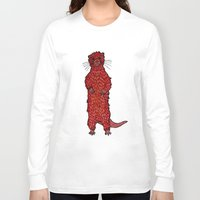otter Long Sleeve T-shirts featuring Otter by Michalacaney