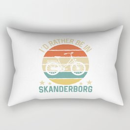 Skanderborg I'd rather be in denmark. TShirt Bicycle Shirt Bike Gift Idea  Rectangular Pillow