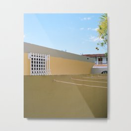 urbanización houses side by side Metal Print