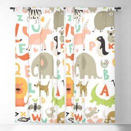 Children Alphabet Seamless Pattern Blackout Curtain