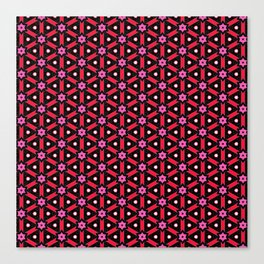 Hearts and Stars Pattern Canvas Print