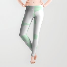 Large Spots - White and Pastel Green Leggings