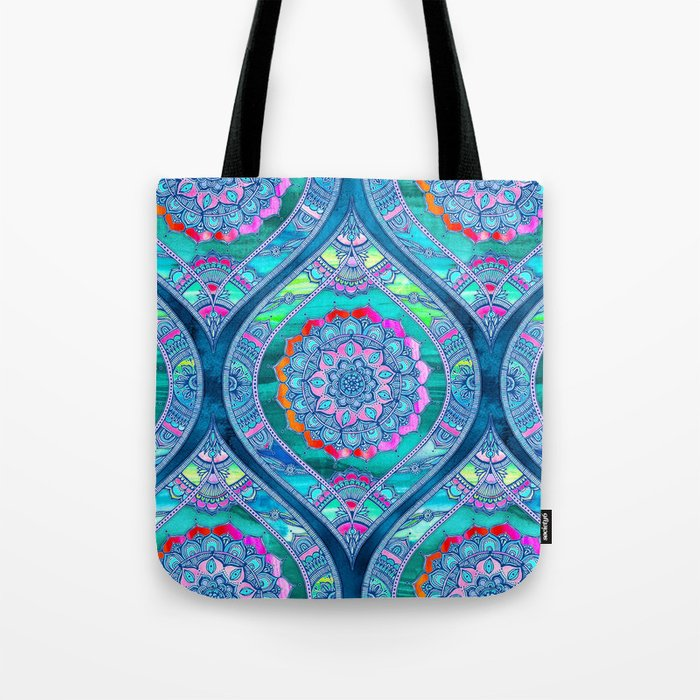 Radiant Boho Color Play Tote Bag