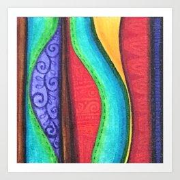 Fabric Pattern Wavy Art Print
