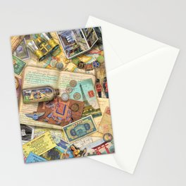 Vintage World Traveler Stationery Cards
