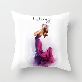 dancing ballerina1 Throw Pillow