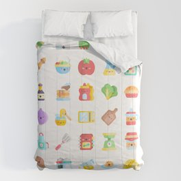 CUTE COOKING PATTERN Comforters