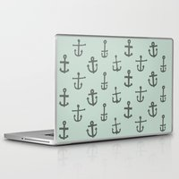anchors Laptop & iPad Skins featuring Anchors by siobhaniaa