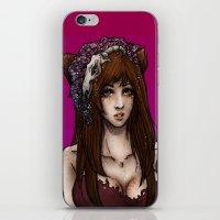 kitsune iPhone & iPod Skins featuring Kitsune by Mika Ishii