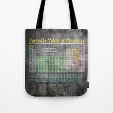 Old School Periodic Table Of Elements - Chalkboard Style Tote Bag