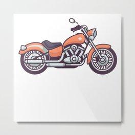 Vintage Motorbike Retro Motorcycle Biker Bike Gift Metal Print