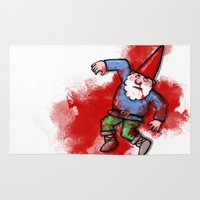 gnome Area & Throw Rugs featuring Crushed Gnome by Stephan Brusche