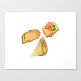 Akward Sandwich Canvas Print