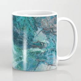 Cerulean Blue Marble Coffee Mug