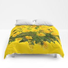 Decorative Golden Yellow Dandelions Patterns Comforters