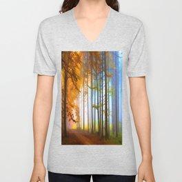 Ethereal Forest  Unisex V-Neck