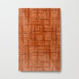 Textured Tweed - Rust Orange Metal Print