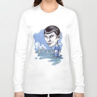 spock Long Sleeve T-shirts featuring spock by ElenaTerrin