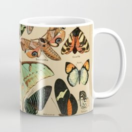 Adolphe Millot- Vintage Butterfly Print Coffee Mug