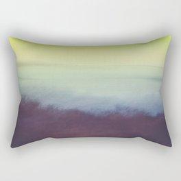 Coastal Landscape Abstract Rectangular Pillow