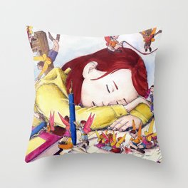 Playful fairies Throw Pillow