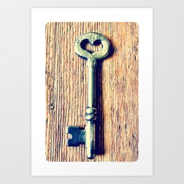 Heart Shaped Key Art Print
