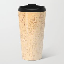 happy gathering Metal Travel Mug